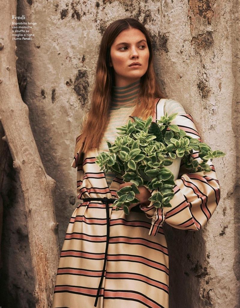 Estee Rammant Models the Season's Most Romantic Looks for Grazia Italy