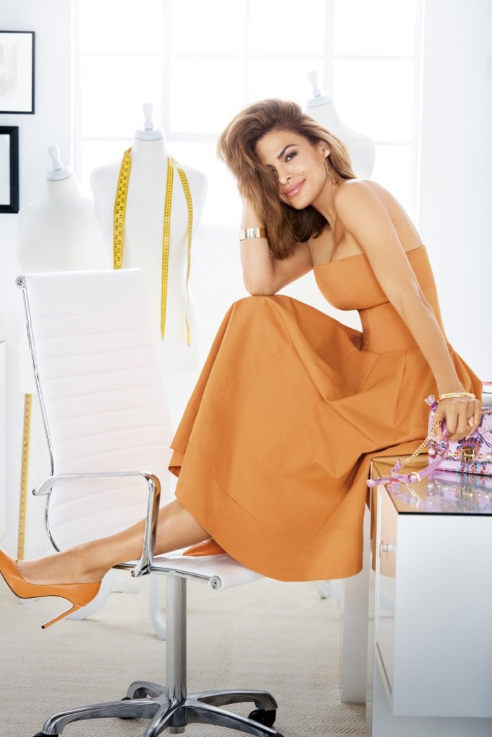 Eva Mendes wears New York and Company Liv Strapless Dress