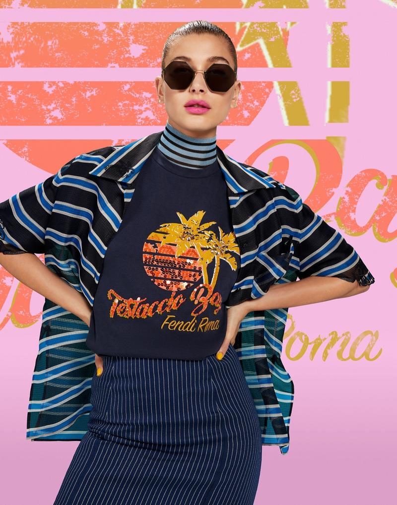 Hailey Baldwin fronts Fendi Pop Tour campaign