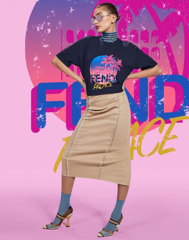 Fendi taps Hailey Baldwin for Pop Tour campaign