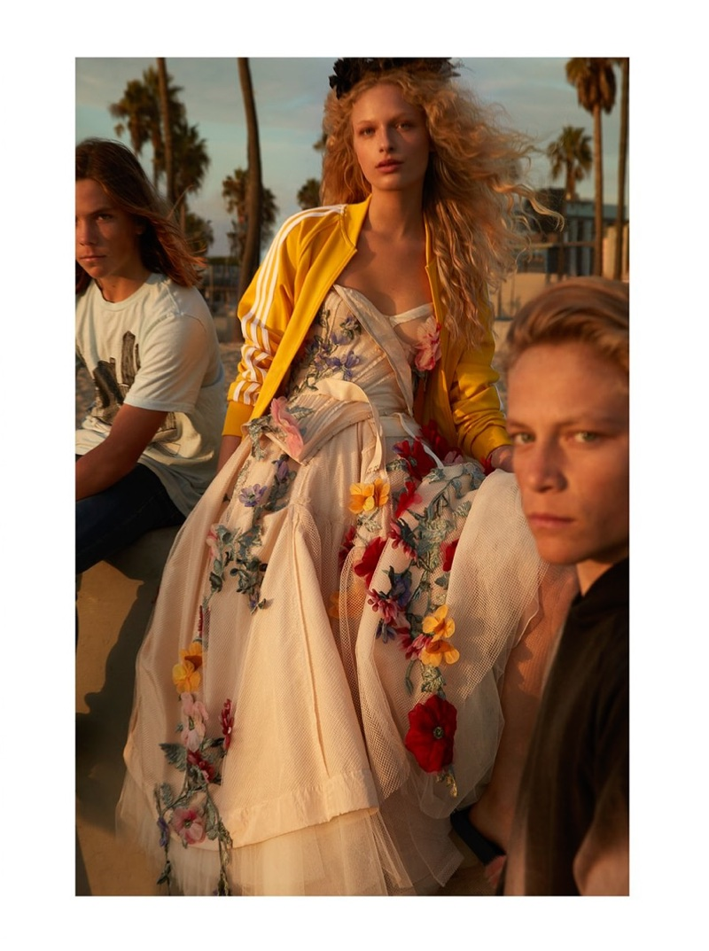 Frederikke Sofie is a Beach Princess for Vogue Japan