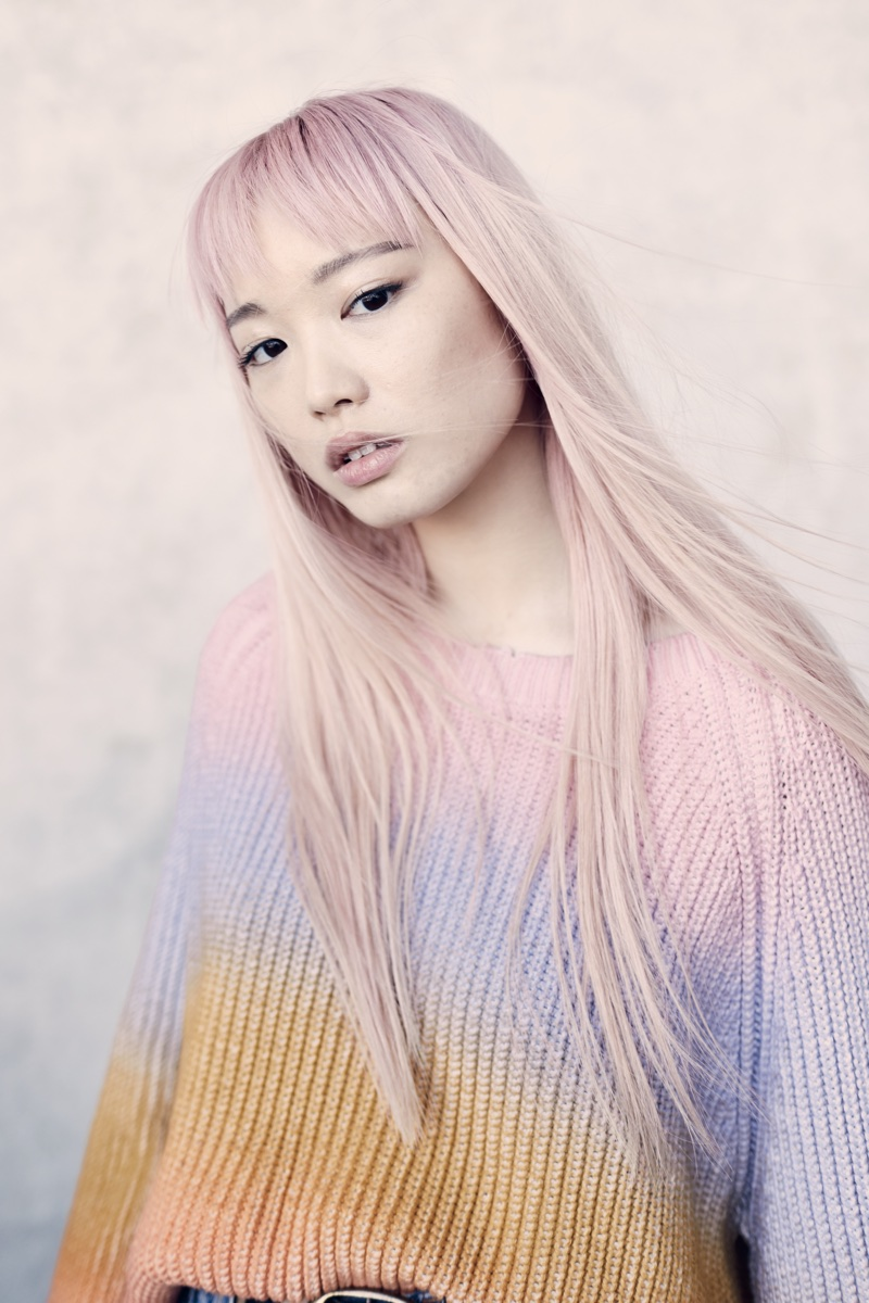 Fernanda Ly models Zadig & Voltaire Kary Cow Sweater