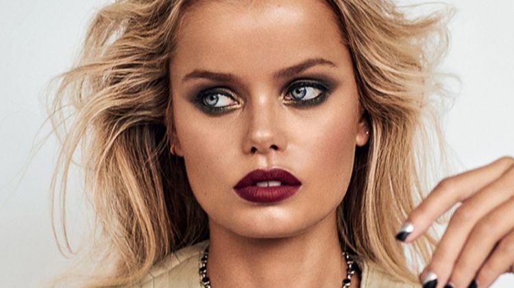 Frida Aasen Wears Chic Makeup Looks for ELLE Slovenia