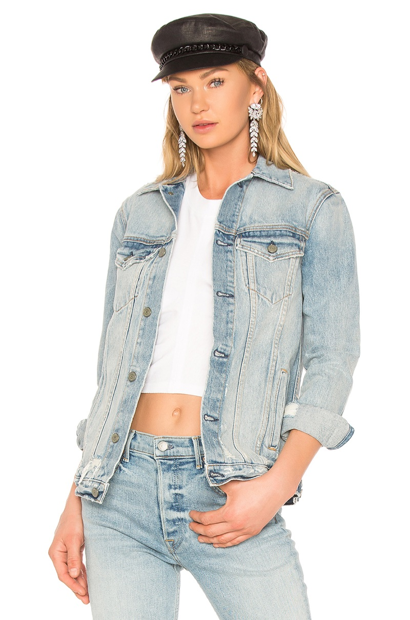 GRLFRND Daria Oversized Denim Jacket $288