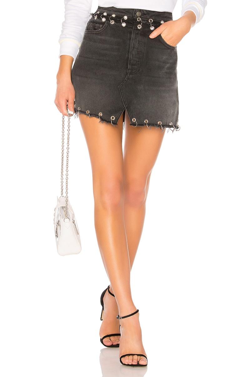 GRLFRND Mila Highrise A-Frame Skirt $378