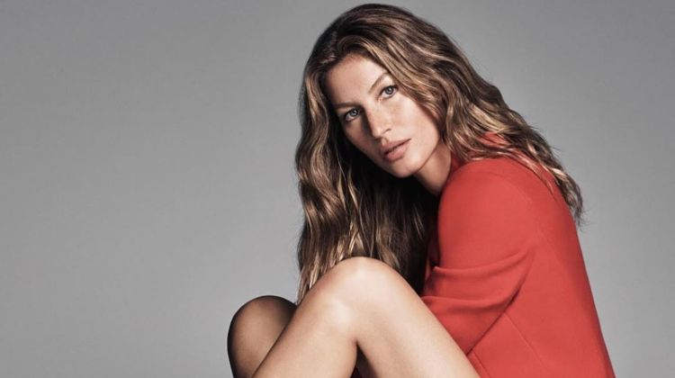 Posing in red booties, Gisele Bundchen fronts Arezzo's fall-winter 2018 campaign