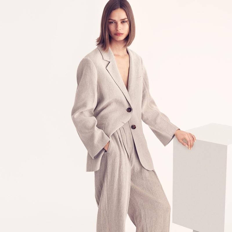 H&M Linen Jacket and Wide-Cut Linen Pants