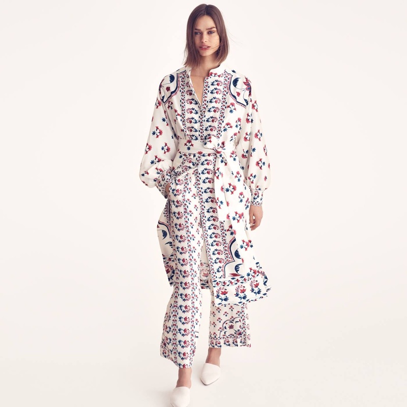 H&M Patterned Tunic and Wide-Cut Pants