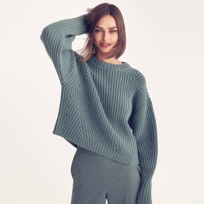 H&M Knit Sweater and Wide-Leg Pants
