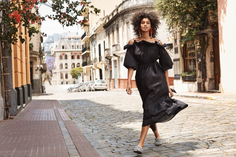 Imaan Hammam stars in H&M's spring 2018 campaign