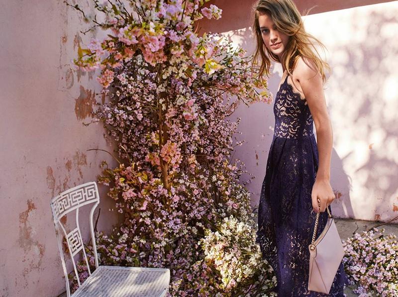 H&M Lace Dress and Shoulder Bag