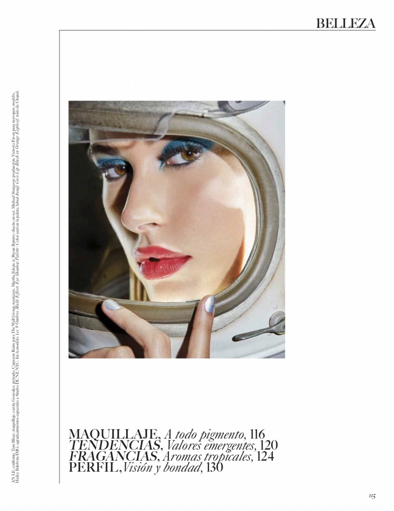 Hailey Baldwin Models Glam Makeup Looks for Vogue Mexico