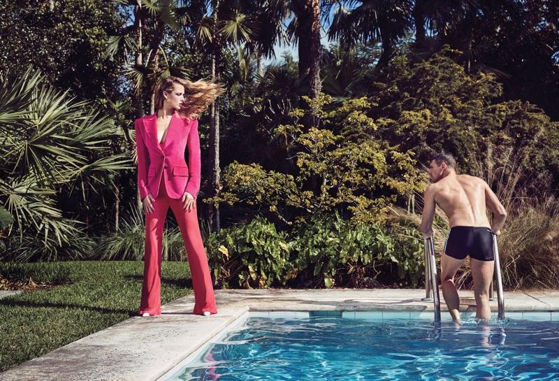 Hannah Ferguson Models Vibrant Spring Fashions for V Magazine