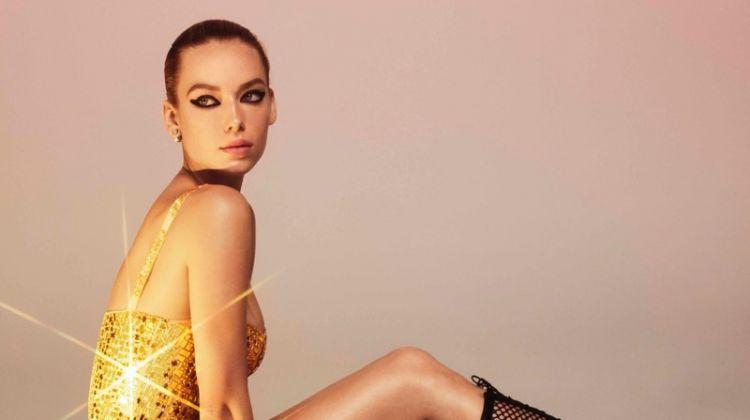 Hannah Ferguson Turns Up the Shine Factor for Harper's Bazaar Ukraine