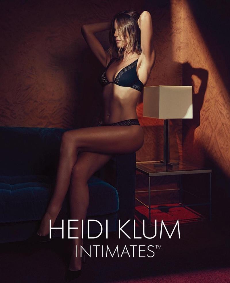 Supermodel Heidi Klum flaunts her toned body in Heidi Klum Intimates spring-summer 2018 campaign
