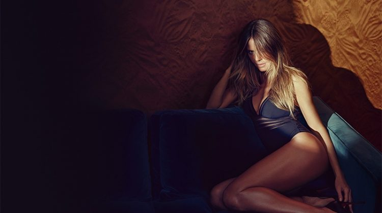 An image from Heidi Klum Intimates spring 2018 advertising campaign