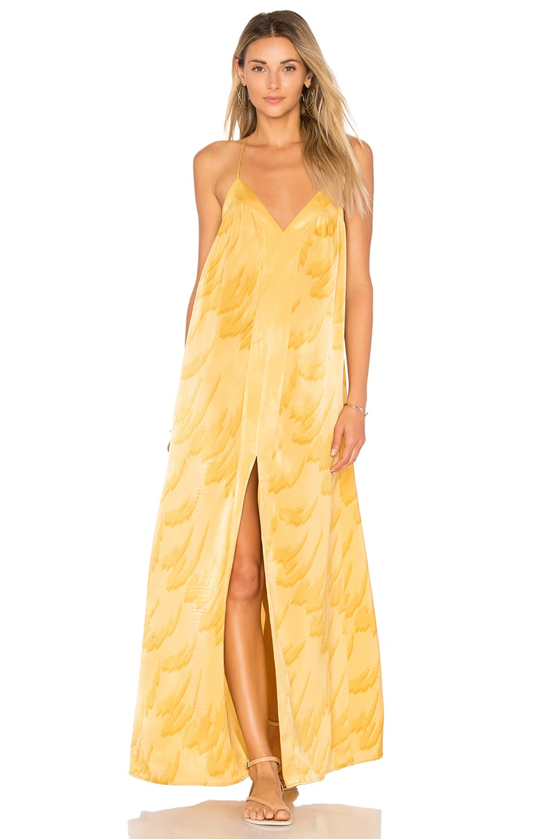 House of Harlow x REVOLVE Brynn Maxi Dress in Yellow Feather $208