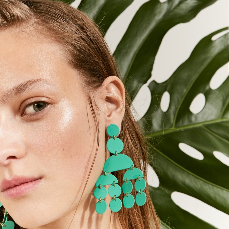 J. Crew Circle Statement Earrings