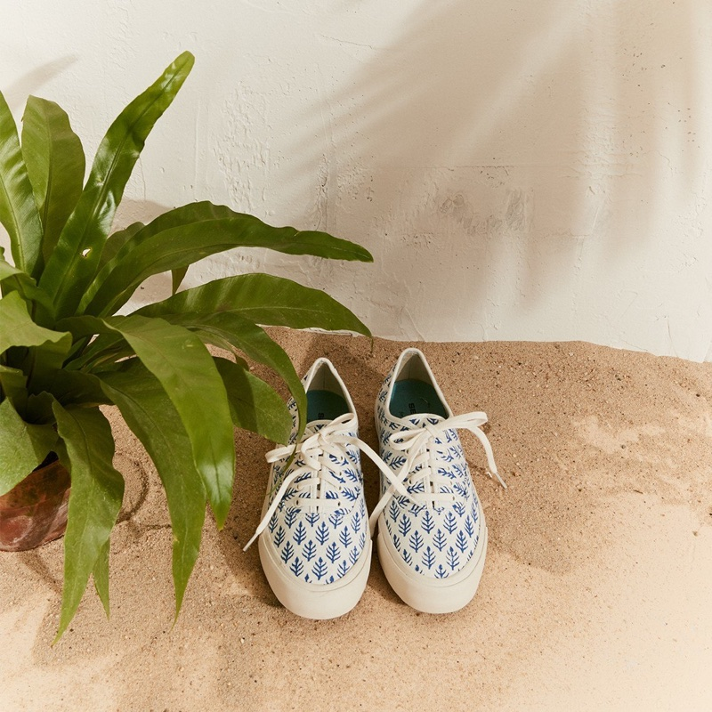 SeaVees for J. Crew Legend Sneakers in SZ Blockprints