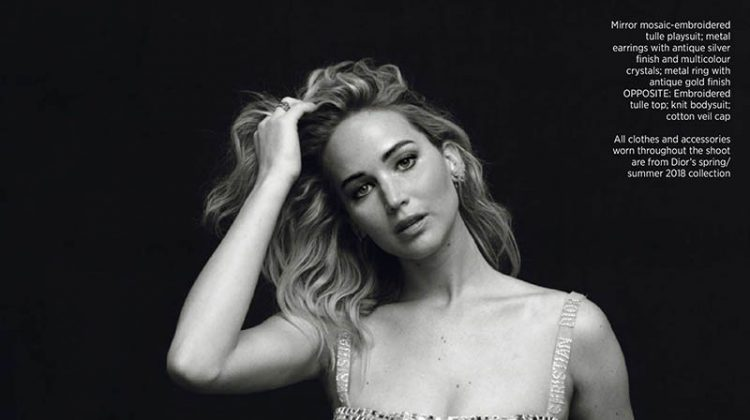 Jennifer Lawrence Enchants in Dior for Harper's Bazaar Singapore