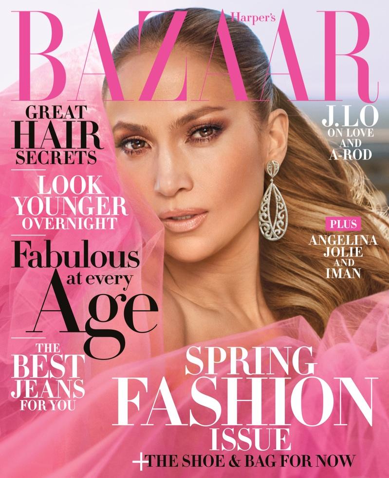 Jennifer Lopez on Harper's Bazaar US April 2018 Cover