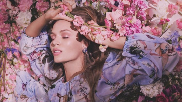 Josephine Skriver is In Full Bloom for Spring in Numero Tokyo