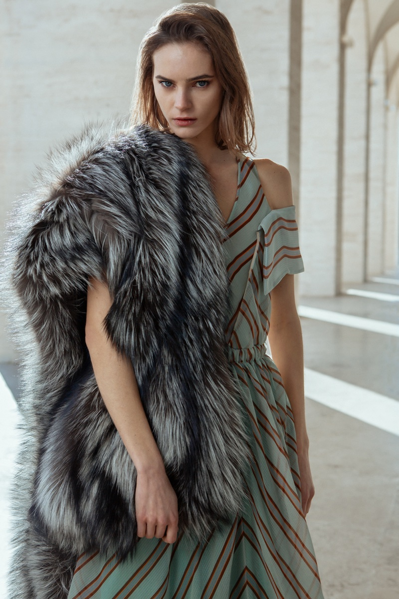 Juju Ivanyuk Poses in Fendi's Luxe Looks for ELLE Japan