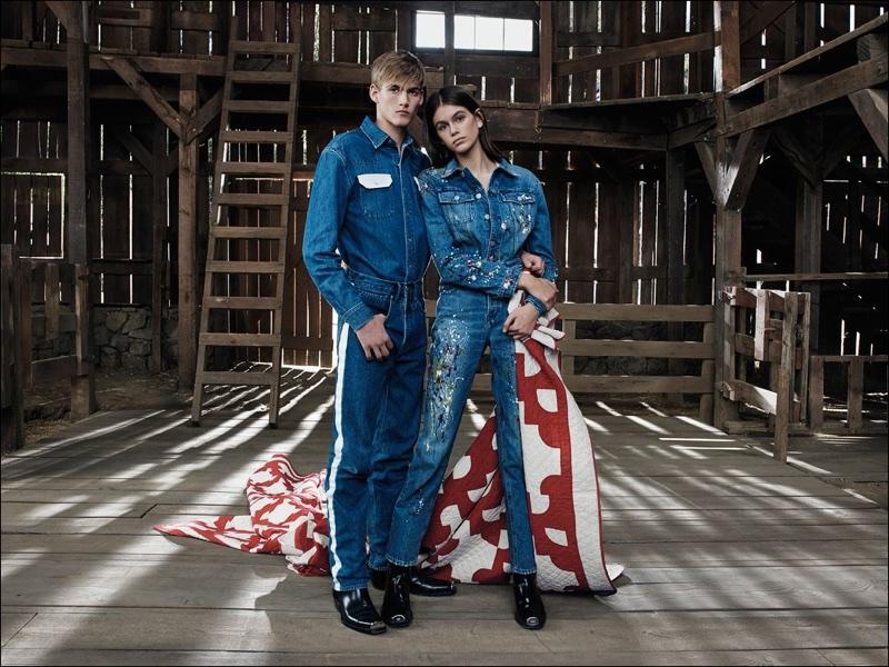 Presley Gerber and Kaia Gerber return for Calvin Klein Jeans spring 2018 campaign