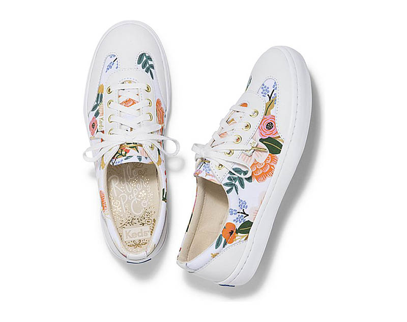 Keds x Rifle Paper Co 'Tournament' Sneaker in Lively Floral $80