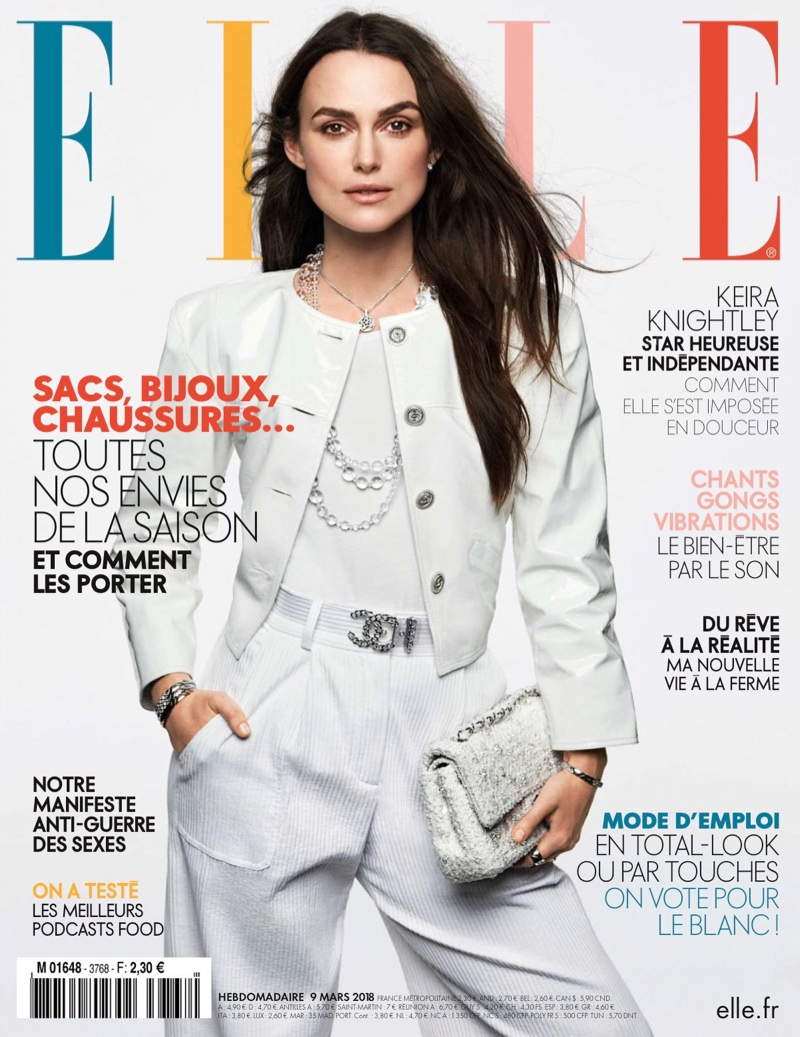 Keira Knightley on ELLE France March 9th, 2018 Cover