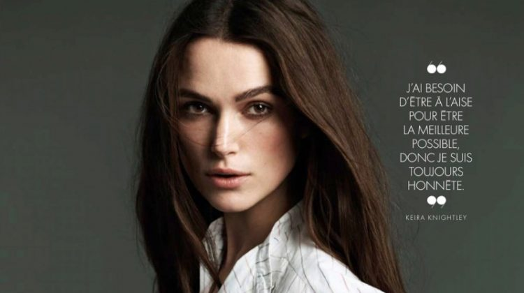 Keira Knightley Poses in Sophisticated Styles for ELLE France