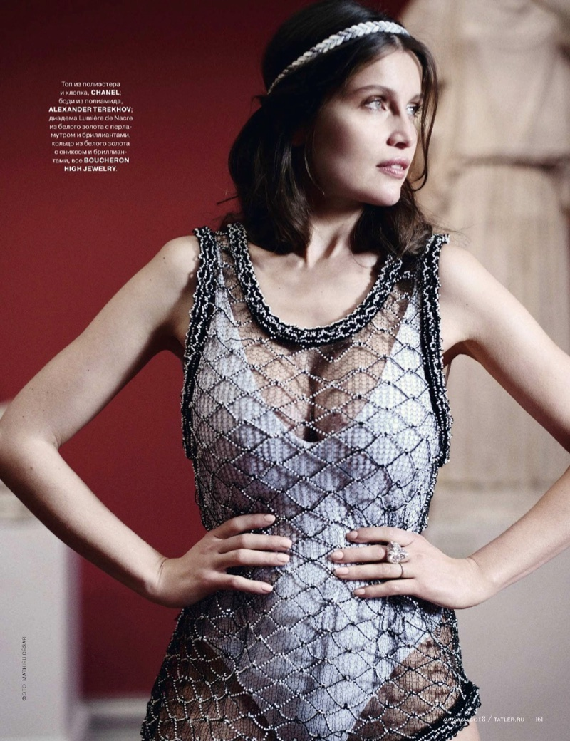 Laetitia Casta Looks as Elegant as Ever for Tatler Russia