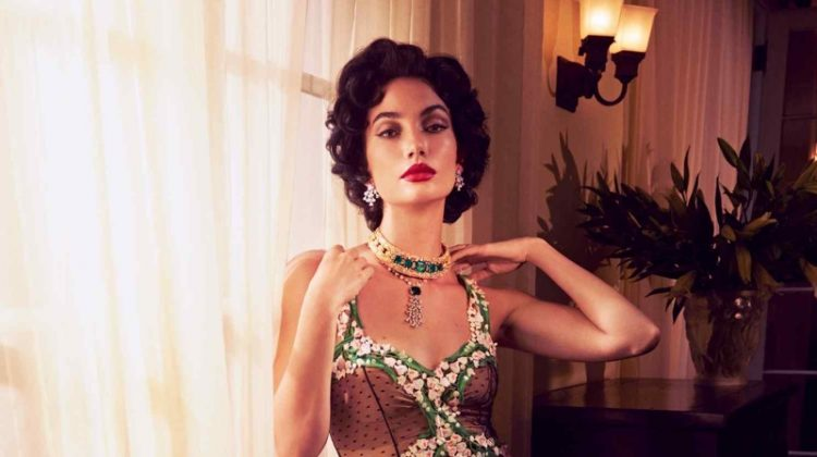 Lily Aldridge Channels Elizabeth Taylor for How to Spend It Shoot