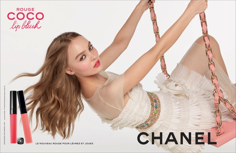 Lily-Rose Depp stars in Chanel Coco Rouge Lip Blush campaign