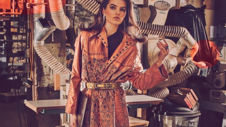 Lily Stewart Poses in New Season Coats for Vogue Arabia