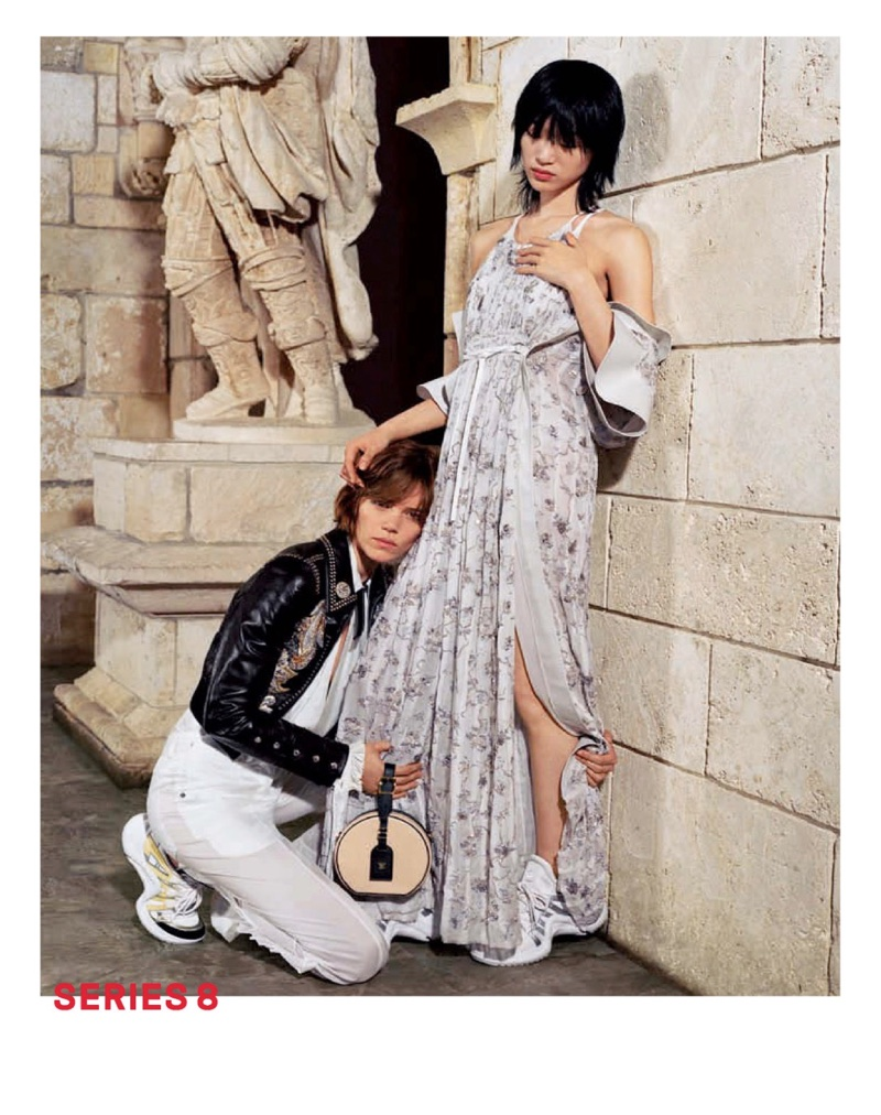 Freja Beha Erichsen and Sora Choi star in Louis Vuitton's spring-summer 2018 campaign