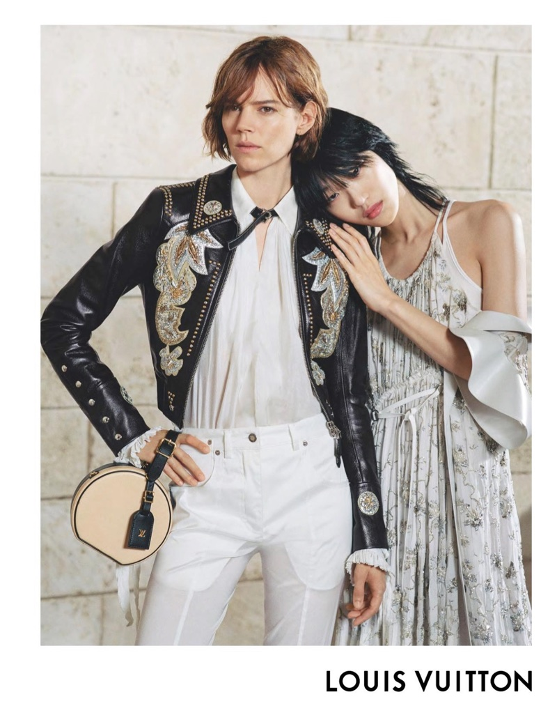 Freja Beha Erichsen and Sora Choi appear in Louis Vuitton's spring-summer 2018 campaign