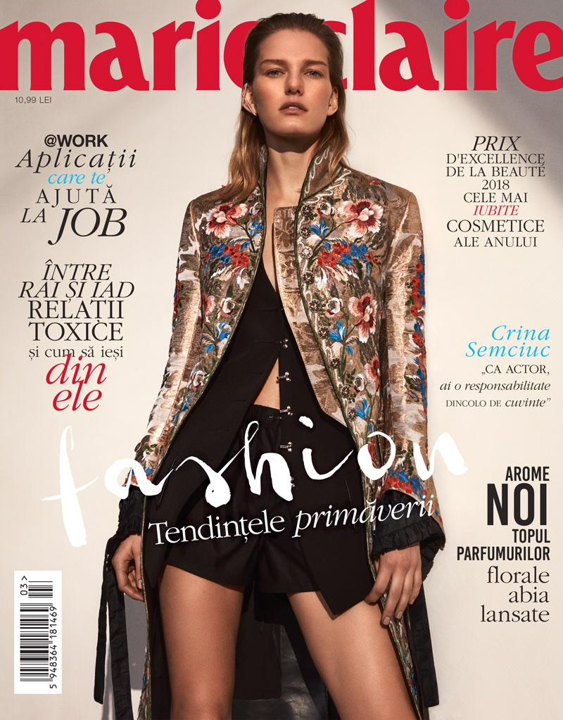 Marique Schimmel Poses in the Spring Collections for Marie Claire Romania