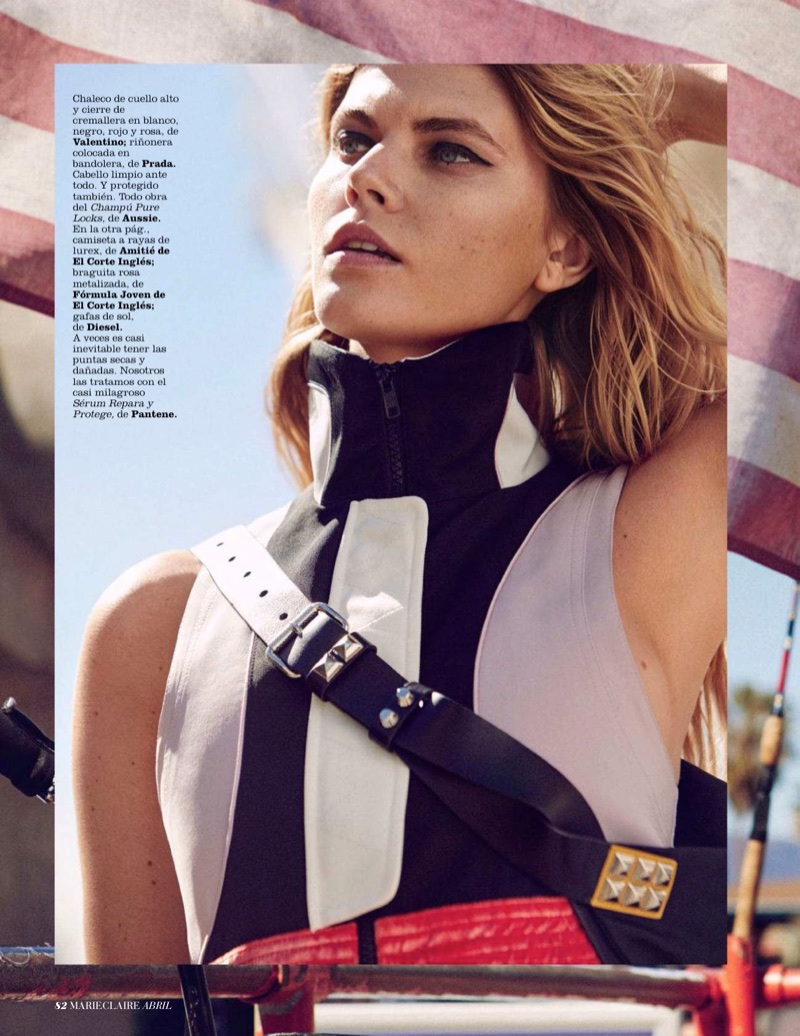 Maryna Linchuk Wears Sporty Chic Looks for Marie Claire Spain