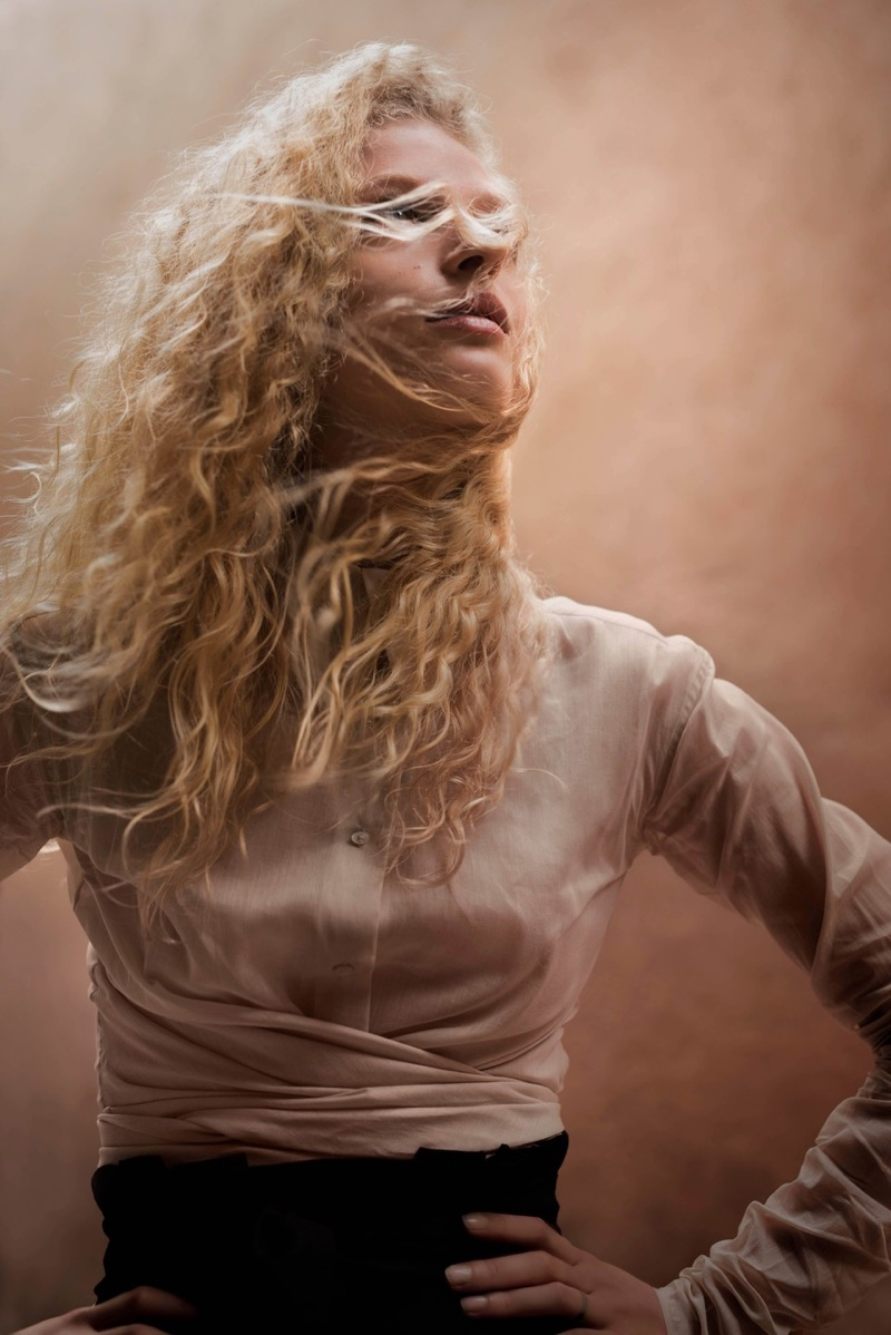 Frederikke Sofie stars in Massimo Dutti's Les Voyageurs lookbook