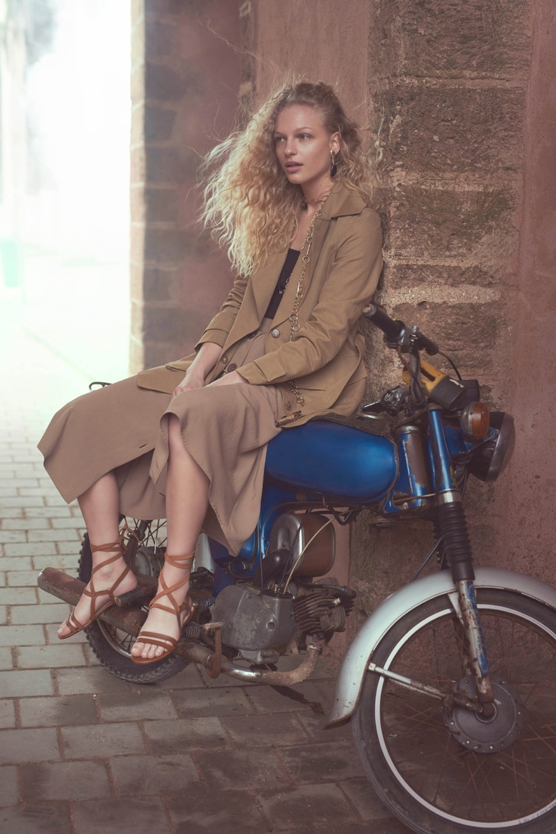 Massimo Dutti taps Frederikke Sofie for 'Les Voyageurs' lookbook