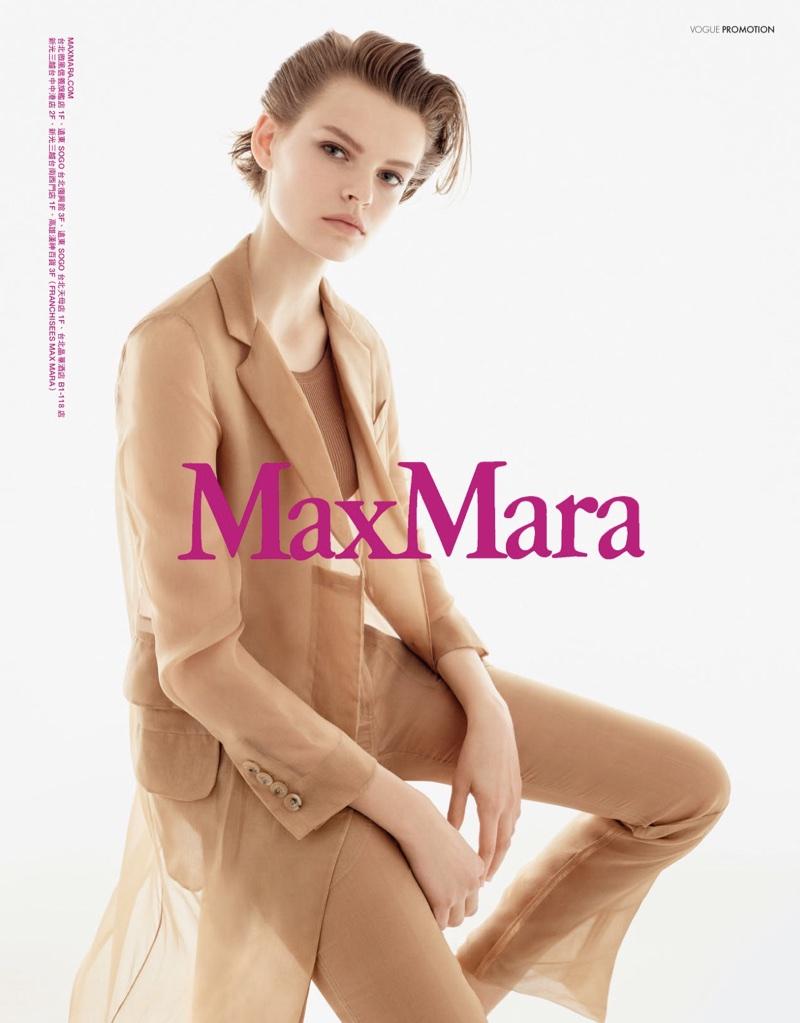 Cara Taylor stars in Max Mara's spring-summer 2018 campaign