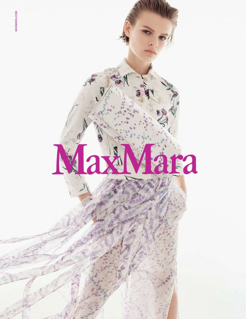Max Mara features dreamy florals in its spring-summer 2018 campaign