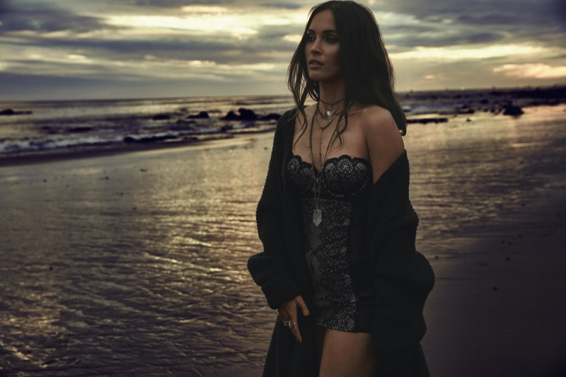Posing at the beach, Megan Fox fronts Frederick's of Hollywood's spring-summer 2018 campaign