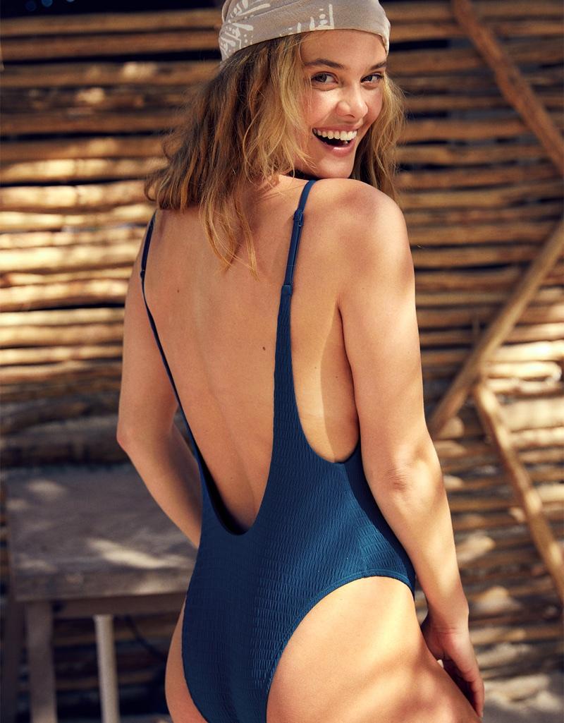 4205cb7f4661f Nina Agdal | aerie Swimsuits | Unretouched Photoshoot | Fashion Gone ...