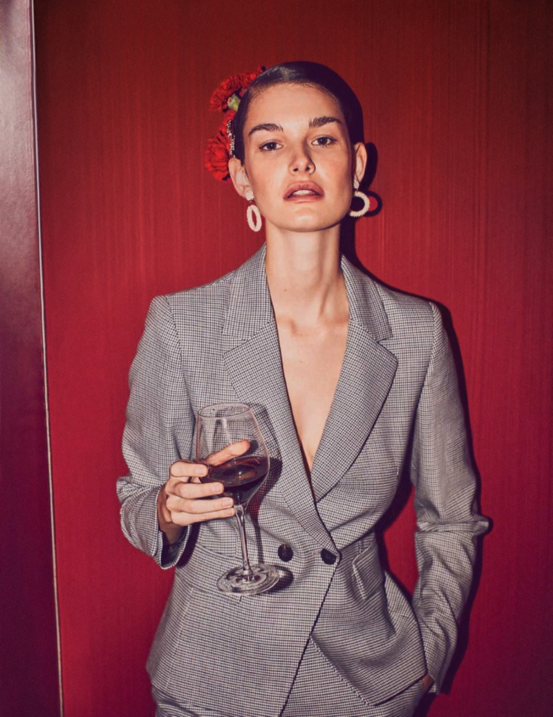 Ophelie Guillermand Takes On the New Collections for Harper's Bazaar Spain