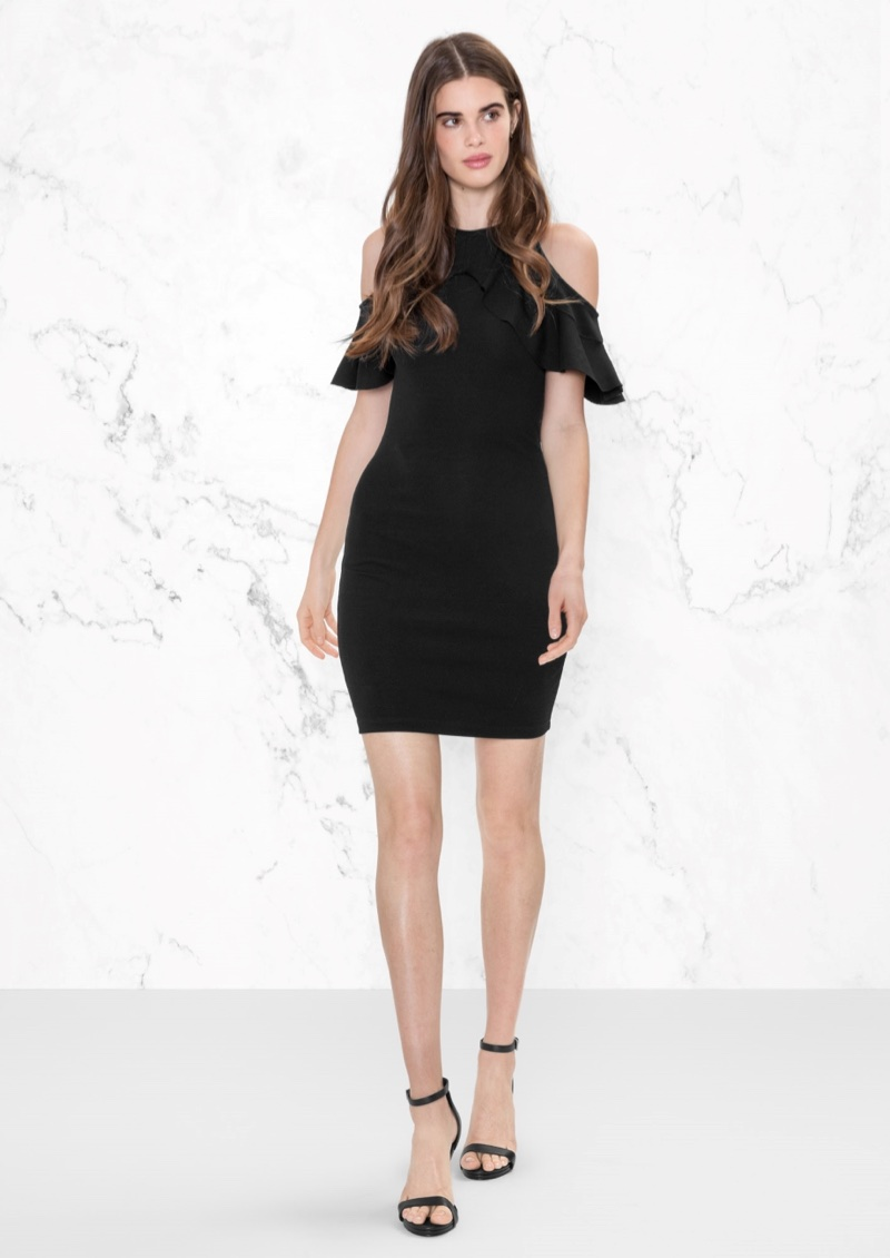 & Other Stories Cold Shoulder Frills Dress $33 (previously $65)