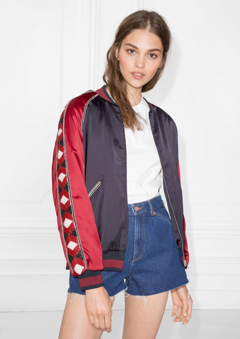 & Other Stories Embroidered Bomber Jacket $73 (previously $145)