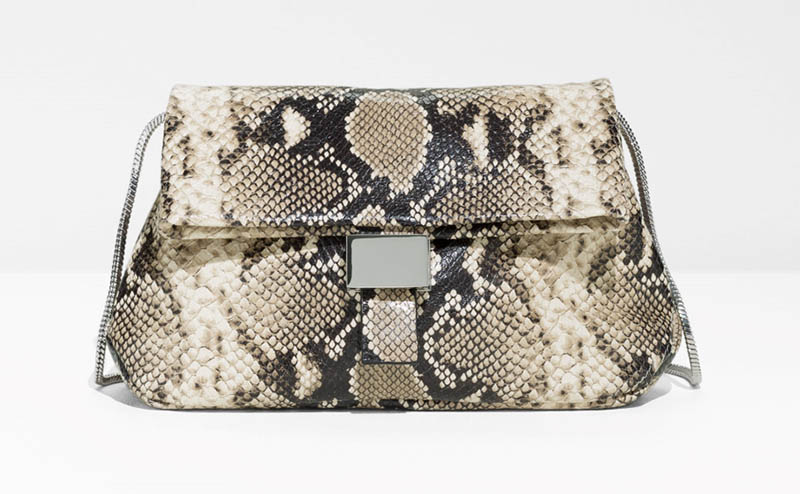 & Other Stories Small Snake Embossed Fold-Over Bag $102 (previously $145)