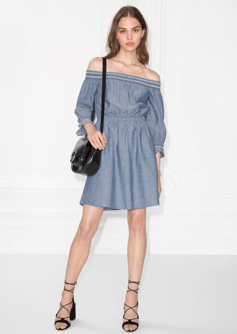 & Other Stories Smocked Embroidered Dress $43 (previously $85)